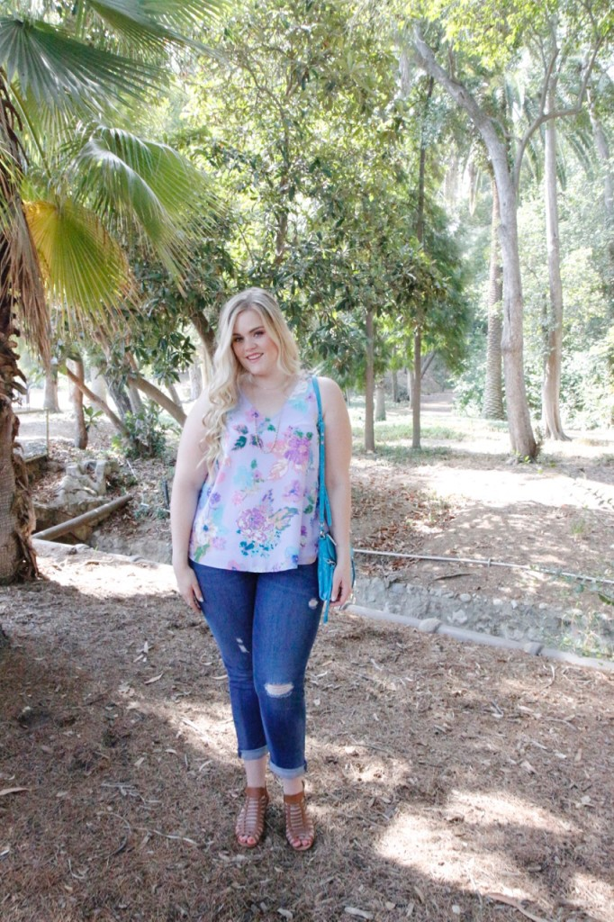 August Stitch Fix Review - Floral Top and Jeans