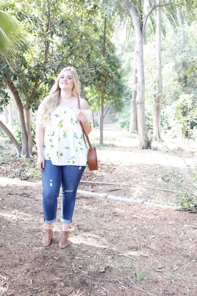 August Stitch Fix Review - Summer Off the Shoulder Blouse