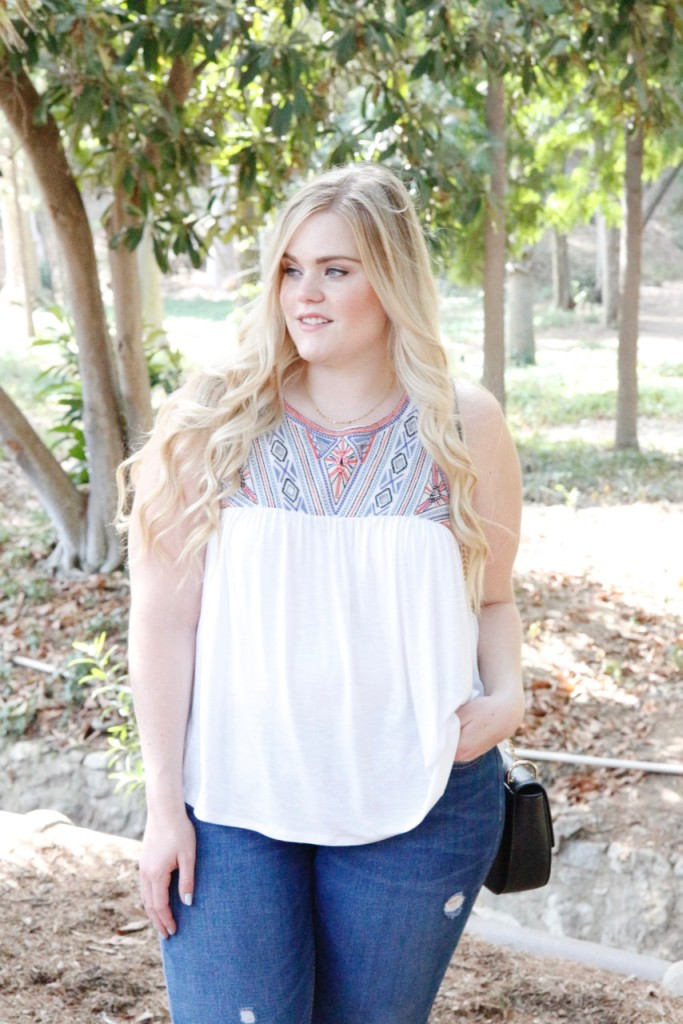 August Stitch Fix Review - Summer Embroidered Top