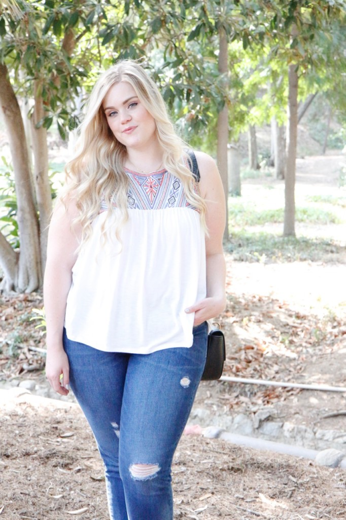August Stitch Fix Review - Embroidered Summer Top