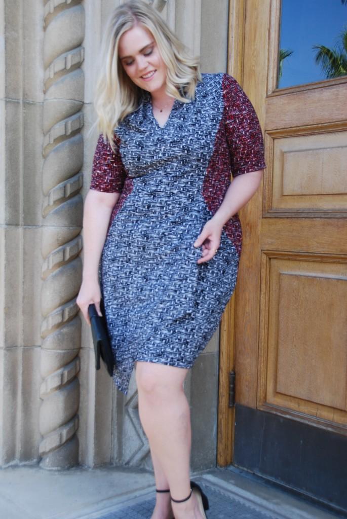 London Times Maxine Sheath Midi Dress
