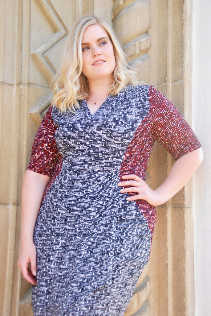 London Times Summer Sheath Dress for Plus Size