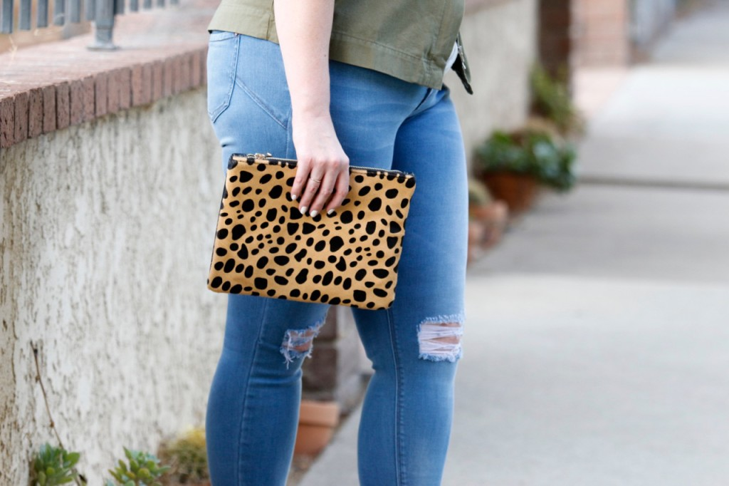 Leopard Clutch Outfit Pairing