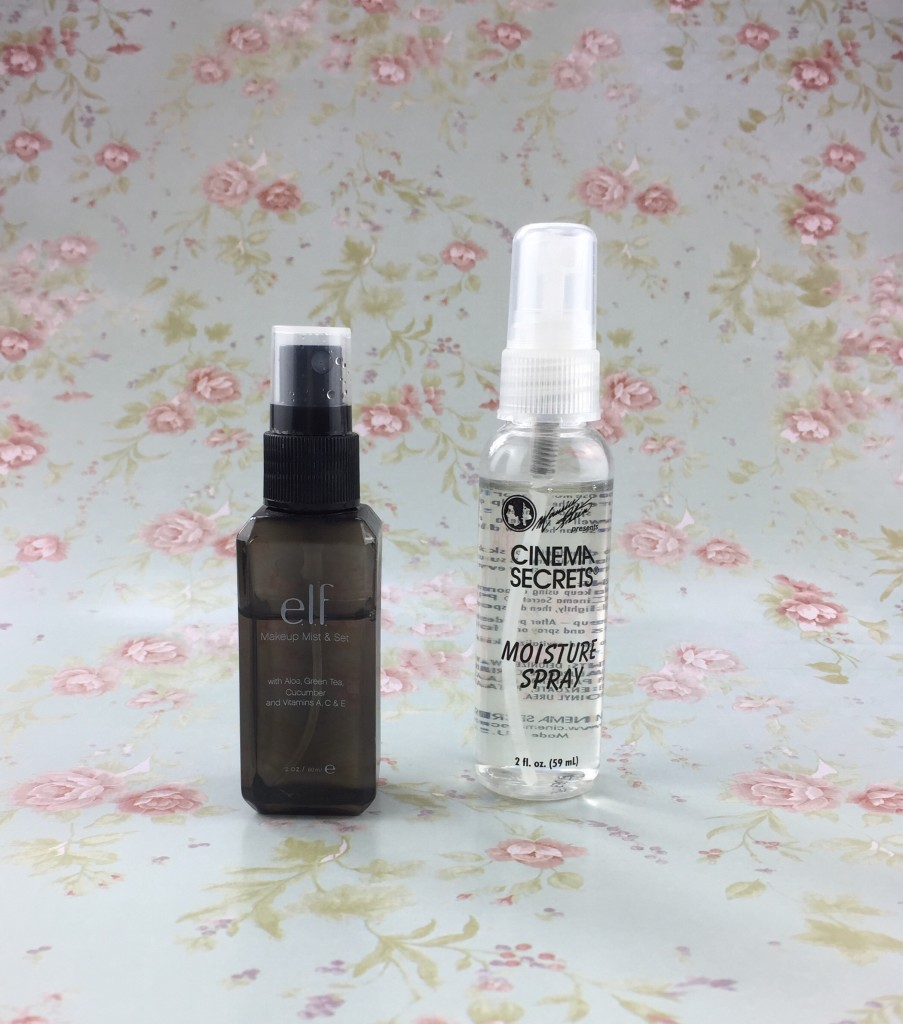 Makeup Setting Sprays from E.L.F. and Cinema Secrets