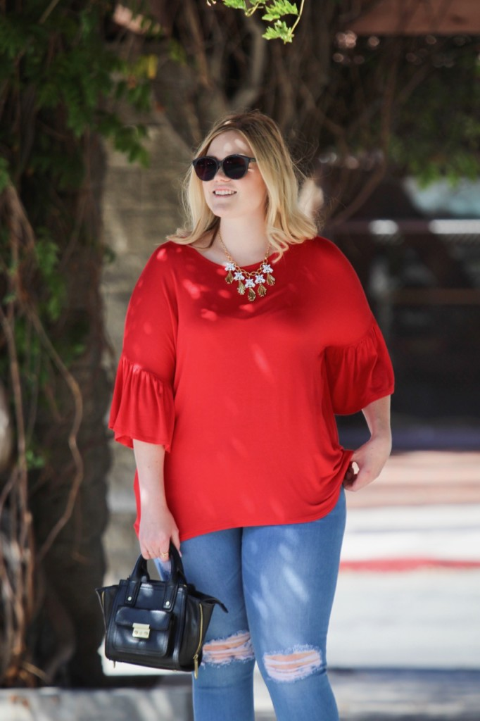 Fall Trend Lookbook - Red and Bell Sleeves
